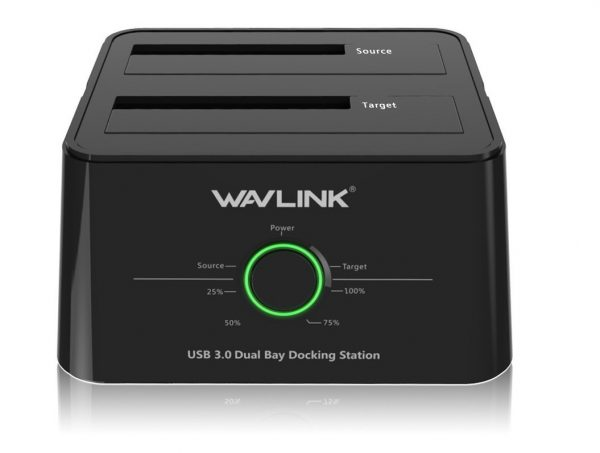 4. WAVLINK USB 3.0 to SATA (5Gbps) Dual-Bay Hard Drive Docking Station For 2.5 inch