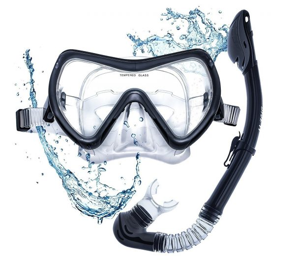5. DIVE IT Snorkel Mask - Snorkel Set - Scuba Mask with Dry Snorkel Anti-fogging Lens & Dual Strap System
