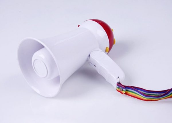 5. Denshine Mini Megaphone Speaker Foldable Portable Handheld Megaphone Loud Speaker Bullhorn Voice Amplifer