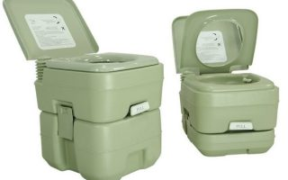 5. PARTYSAVING New Travel Outdoor Camping Boat Portable Toilet Potty
