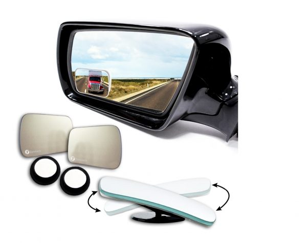 5. Zone Tech Blind Spot Adjustable Square Mirrors