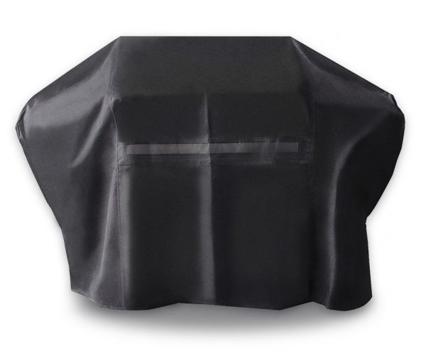 5. i COVER Grill Cover- UV PROTECTION 60 Inch 600D Heavy-Duty water proof patio outdoor black CANVAS BBQ Barbecue Smoker