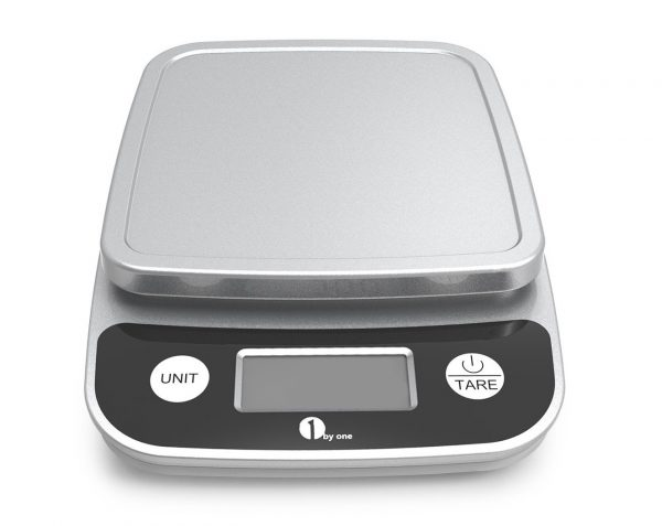6. 1byone Digital Kitchen Scale Precise Cooking Scale and Baking Scale, Multifunction with Range From 0.04oz (1g) to 11lbs, Elegant Black