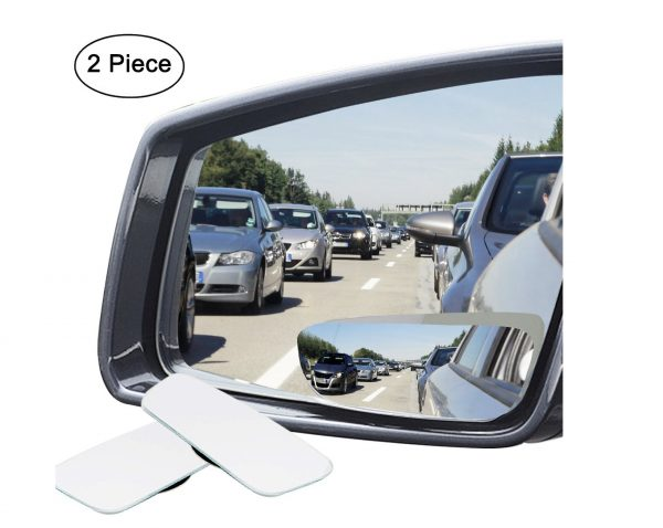 6. Ampper Slender Blind Spot Mirrors, Frameless 360 Degree Adjustabe HD Glass Convex