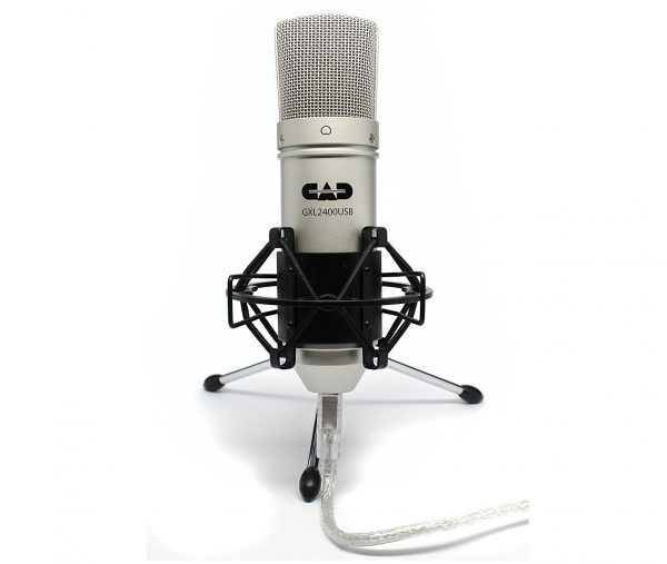 6. CAD GXL2400 USB Microphone for Recording Podcast and Gaming with Shock Mount
