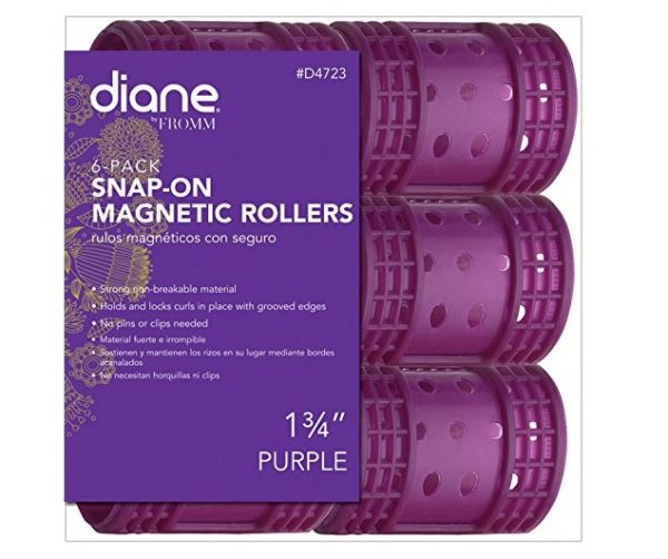 6. Diane Snap On Magnetic Roller, Purple