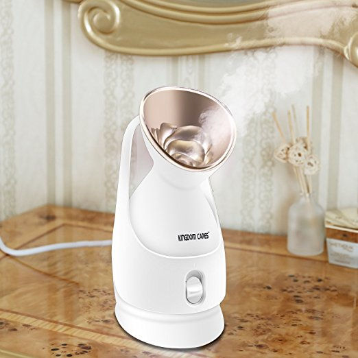 6. KINGDOMBEAUTY Hot Mist Moisturizing Nano Ionic Facial Steamer Unclogs Pores Clear Blackheads Acne Nanosteamer Golden