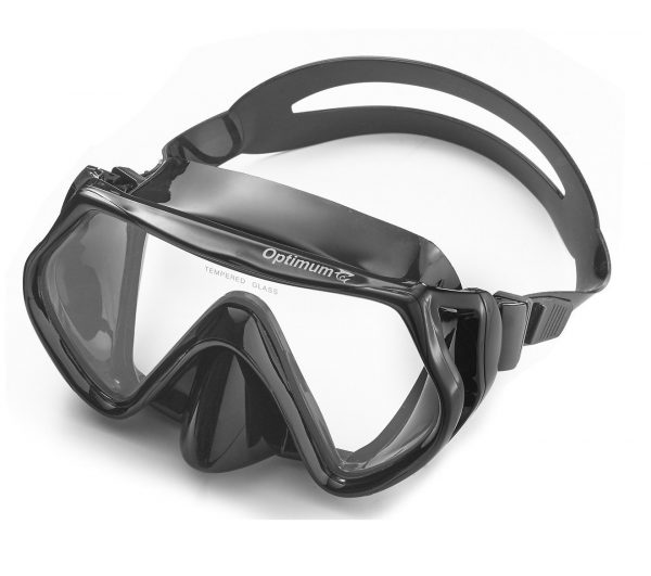 6. Optimum Diving Mask, Scuba Diving, Free Diving, Snorkeling Mask, Adults, Flexible Silicone, Tempered Glass Lens, The Optimum Mask, For Comfort