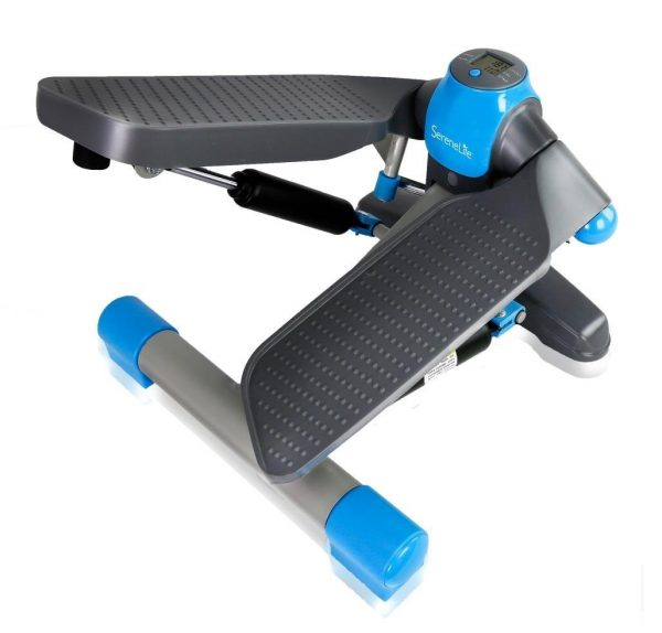 6. SereneLife Fitness Exercise Machine - Mini Elliptical Foot Pedal Stepper or Step Trainer Equipment