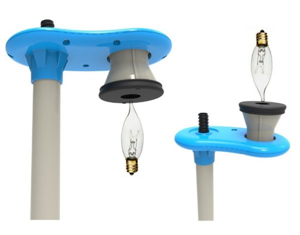 6. The HighLight Bulb Changer pole changes upward and downward facing bulbs in hard to reach places