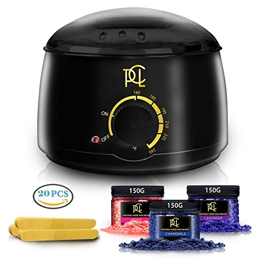 6. Wax Kit Hair Removal, Home Waxing Kit Warmer, Professional Electric Pot Heater Melts Hot Beads in Minutes