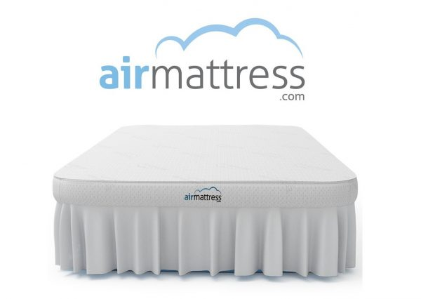 7. Air Mattress KING size - Best Choice RAISED Inflatable Bed with Fitted Sheet and Bed Skirt - Built-in High Capacity Airbed Pump