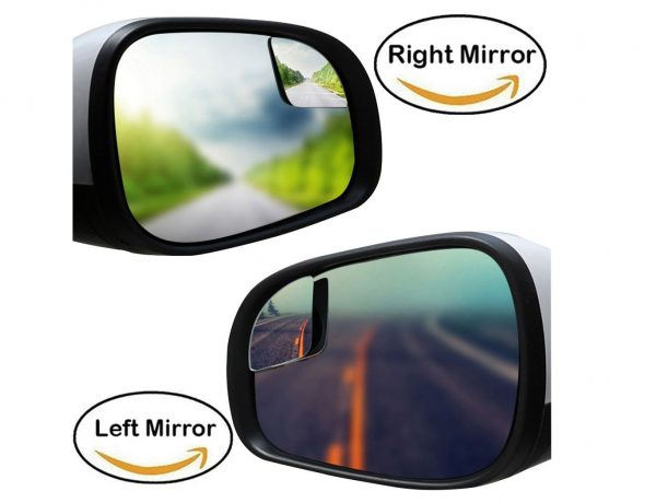 7. Blind Spot Mirrors For Car Truck, Square Fan Shape Flameless