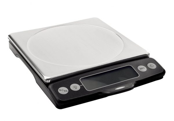 7. OXO Good Grips Stainless Steel Food Scale with Pull-Out Display, 11-Pound