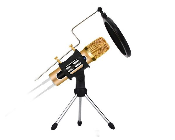 8. Professional Condenser Microphone, Plug &Play Home Studio Microphone for Skype, Recordings for YouTube, Recording for Iphone Android Phone Computer