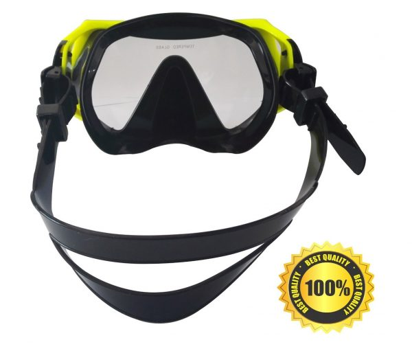 8. Rising Goods Scuba Snorkeling Diving Mask with Protective Case - Anti-Fog Glass - Leak-Proof Silicone Mask