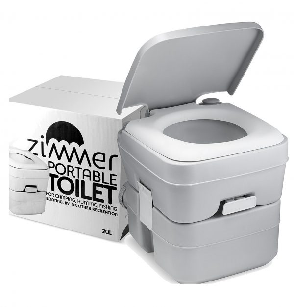 8. ZIMMER Comfort Portable Toilet 5 Gallon Capacity
