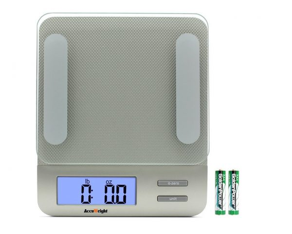 9. AccuWeight Digital Kitchen Multifunction Food Scale for Cooking with Large Back-lit LCD Display,Easy to Clean with Precision Measuring,Tempered Glass
