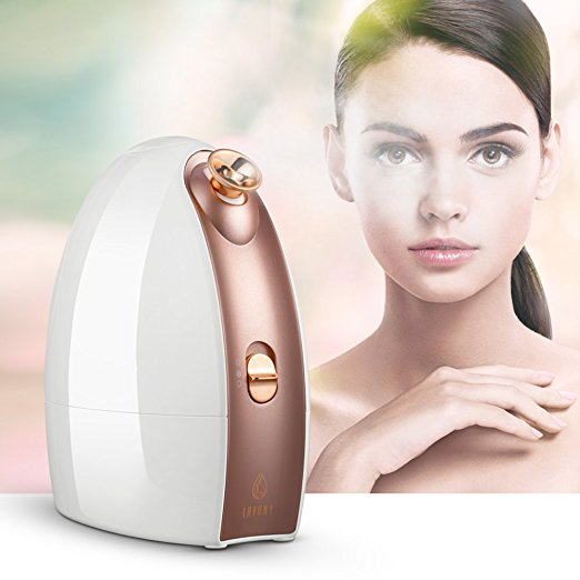 9. Lavany Facial Steamer Nano Ionic Hot & Cool Mist Moisturizing Face Steamer Sprayer with Aromatherapy Basket