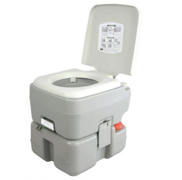 9. SereneLife Outdoor Portable Toilet with Carry Bag, Travel Toilet with Level indicator