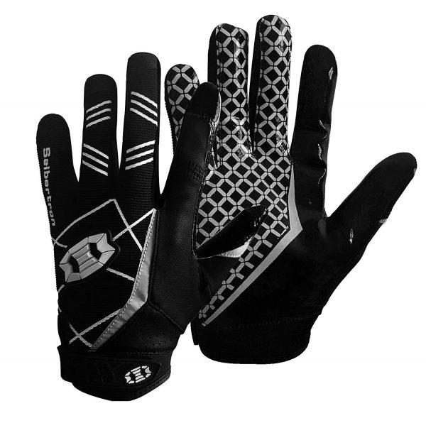 2. Seibertron Pro 3.0 Elite Ultra-Stick Sports Receiver Glove Football Gloves Youth and Adult