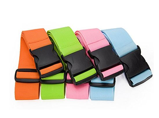 1. BlueCosto Luggage Strap Suitcase Straps Travel Belts Accessories