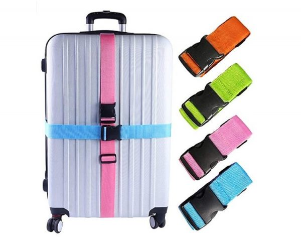 10. Darller Luggage Straps Suitcase Belts Travel Accessories Bag Straps