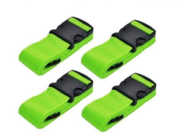 5. Hibate Adjustable Travel Luggage Straps Suitcase Strap Belts - 4 Color Choice