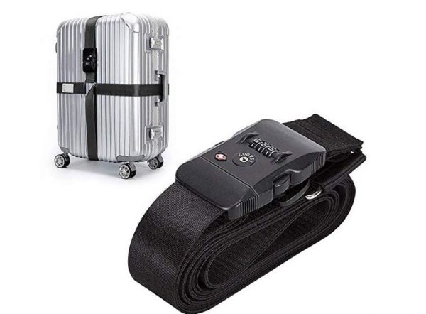 6. TSA Travel Luggage Strap with Approved Lock,Adjustable Suitcase Travel Belt