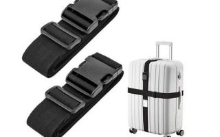 8. Luxebell Luggage Straps Suitcase Belt Travel Accessories, 1.96 in W x 6.56 ft L