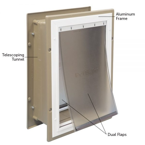 1. PetSafe Wall Entry Pet Door with Telescoping Tunnel, Pet Door for Dogs and Cats, Available in Small, Medium and Large
