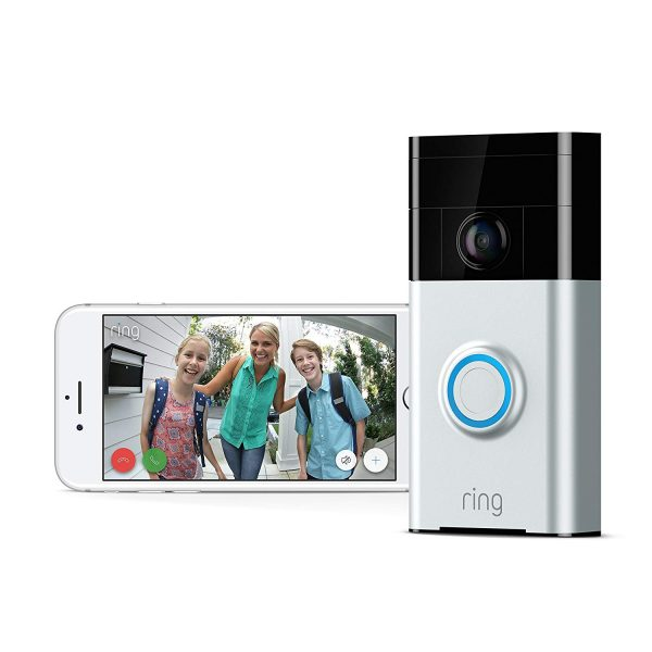 1. Ring Wi-Fi Enabled Video Doorbell in Satin Nickel, Works with Alexa