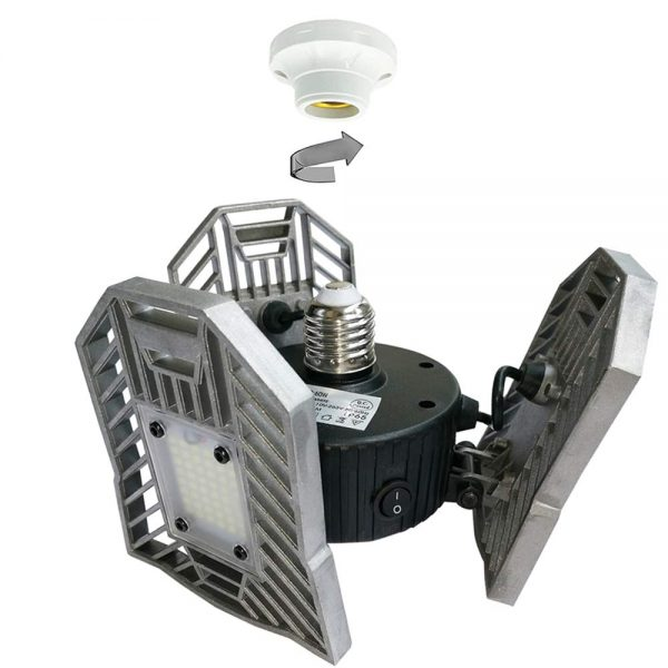 10. E27 Motion-Activated Ceiling Light 6000LM,Garage Light 60W,High Power LED Light Bulb,LED Ceiling Light for Garage