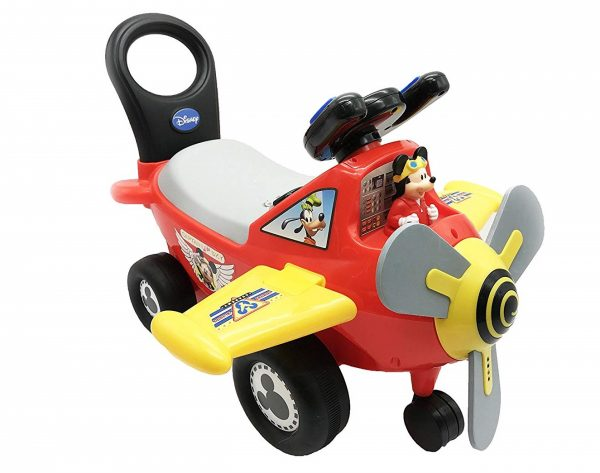 10. Kiddieland Disney Mickey Mouse Plane Light & Sound Activity Ride-On