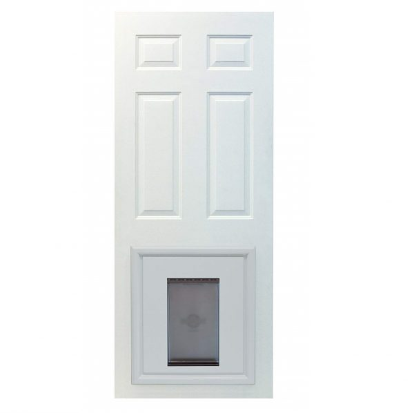 10. PetSafe Panel Pet Door, Paintable White, Large
