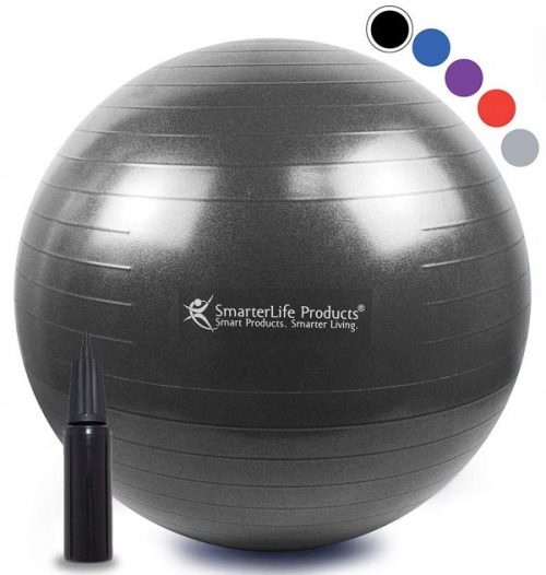 2. Exercise Ball for Yoga, Balance, Stability from SmarterLife