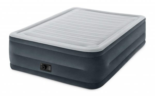 2. Intex Comfort Plush Elevated Dura-Beam Airbed with Built-in Electric Pump, Bed Height