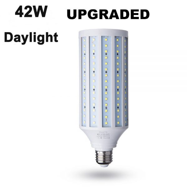 3. 42 Watt(280W Equivalent) LED Corn Bulb,4200 Lumen 6000K,Daylight White LED Street and Area Light