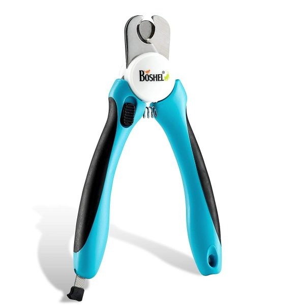 3. Dog Nail Clippers and Trimmer By Boshel - With Safety Guard to Avoid Over-cutting Nails & Free Nail File