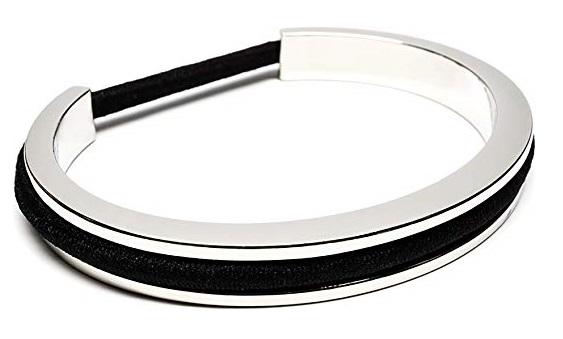 4. Maria Shireen Classic Design Hair Tie Bracelet - Stainless Steel Hair Tie Holder