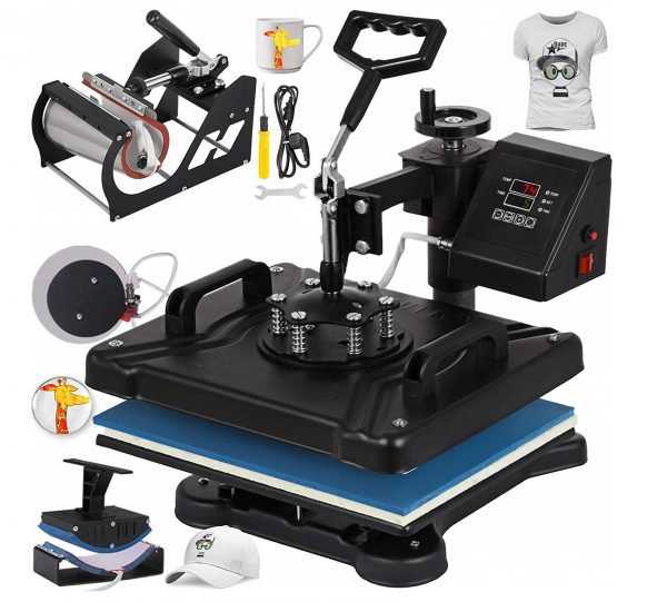 4. Mophorn Heat Press Machine 12x15 inch T-Shirt Heat Press Transfer Combo Swing-Away Presser Mug Hat Press 5IN1 Digital Multifunction Transfer