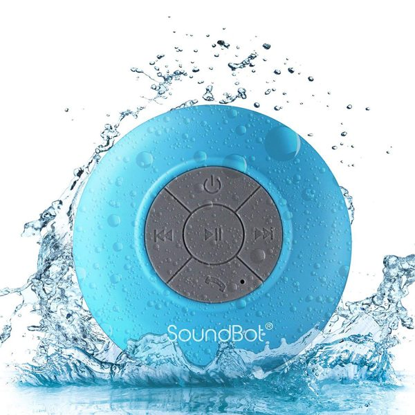 4. SoundBot SB510 HD Water Resistant Bluetooth 3.0 Shower Speaker, Handsfree Portable Speakerphone with Built-in Mic, 6hrs of playtime