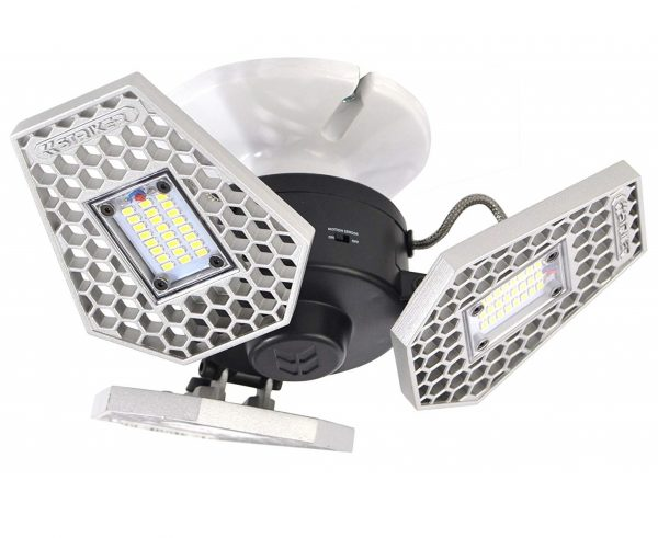 4. Striker Concepts 00342 TRiLIGHT 3000 Lm Screw-in Motion-Activated Ceiling Light
