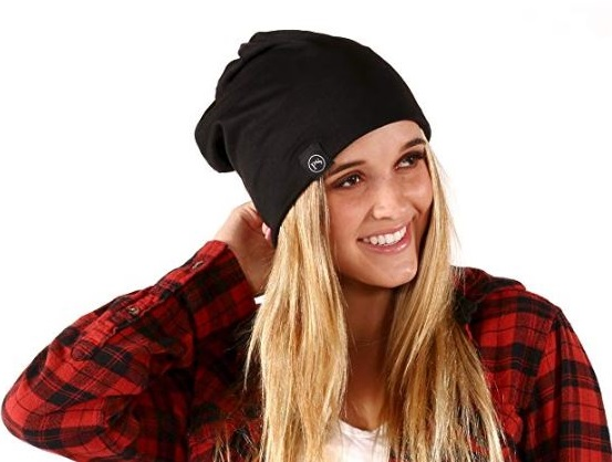 5. Pretty Simple Women's Beanie Slouchy Beanie with Hole
