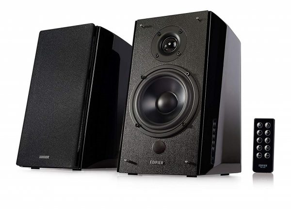 6. Edifier R2000DB Powered Bluetooth Bookshelf Speakers - Near-Field Studio Monitors - Optical Input - 120 Watts RMS - Black