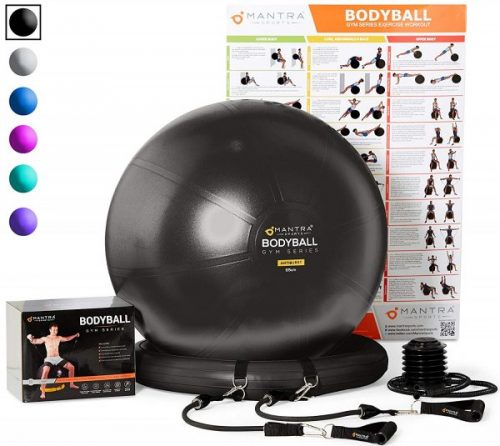 6. Exercise Ball Chair - 65cm & 75cm Yoga Fitness Pilates Ball & Stability Base for Home Gym & Office