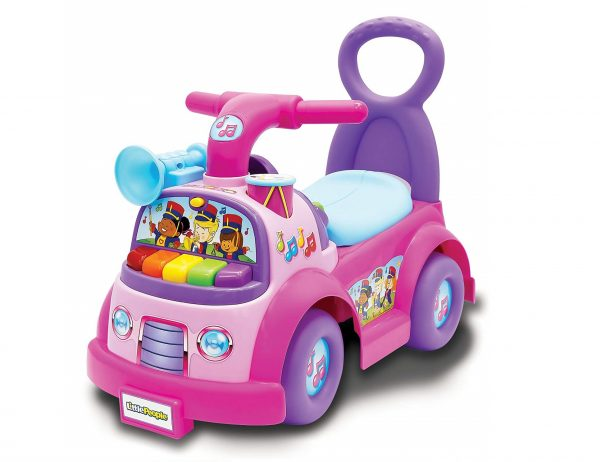 6. Little People Fisher-Price Music Parade Ride On, Pink