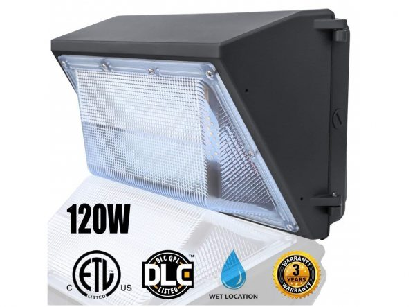 7. 120W LED Wall Pack Light,(Wall Pack Light 5000K Daylight),Waterproof Commercial