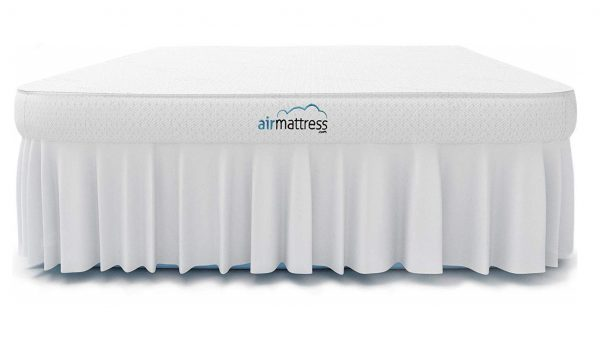 7. Air Mattress KING size - Best Choice RAISED Inflatable Bed with Fitted Sheet and Bed Skirt