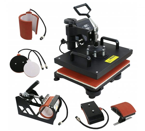 7. F2C Pro 5 in 1 Swing-Away Digital Transfer Sublimation Heat Press Machine Hat